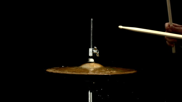 HD Super Slow-Mo: Playing The Hi-Hat With Drum Sticks video
