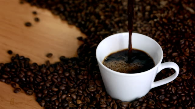 HD Super Slow-Mo: Pouring Black Coffee video