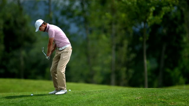 HD Super Slow-Mo: Professional Golfer In Action video