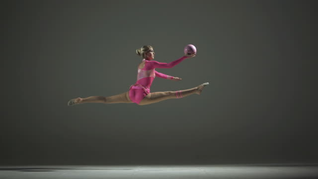 HD Super Slow-Mo: Rhythmic Gymnastics With A Ball video