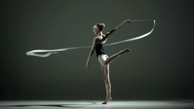 HD Super Slow-Mo: Rhythmic Gymnastics With A Ribbon video