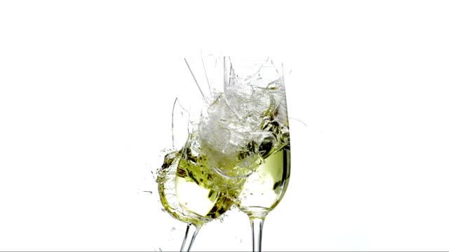 HD Super Slow-Mo: Smashing Champagne Glasses