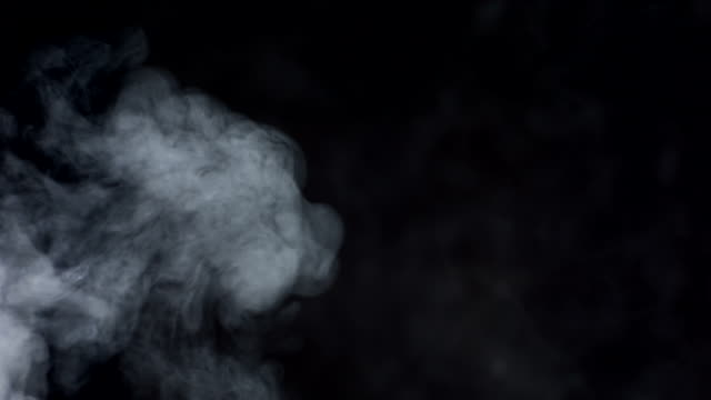 HD Super Slow-Mo: Smoke Over Black Background video