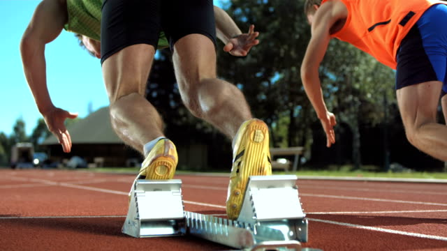 HD Super Slow-Mo: Sprinters Runs Off
