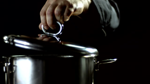 HD Super Slow-Mo: Steam Coming Out Of A Pot video