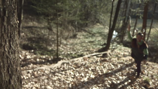 HD Super Slow-Mo: Throwing Hatchet At A Tree video