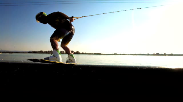 HD Super Slow-Mo: Wakeboarder Doing Trick On The Pipe video