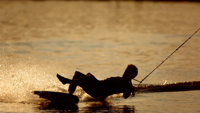HD Super Slow-Mo: Wakeboarder Falling Off video