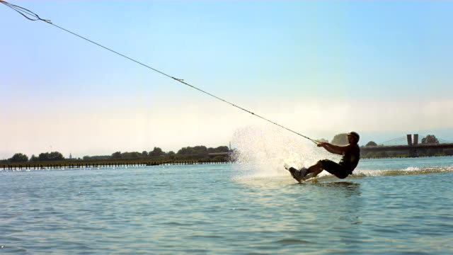 HD Super Slow-Mo: Wakeboarder In Action video