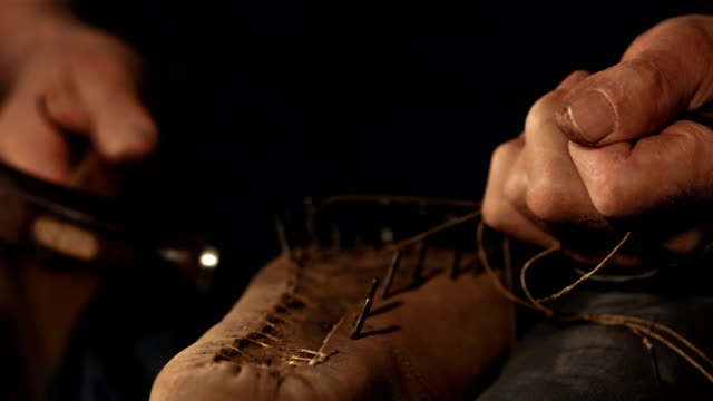 HD Super Slow-Mo: Welting A Shoe video