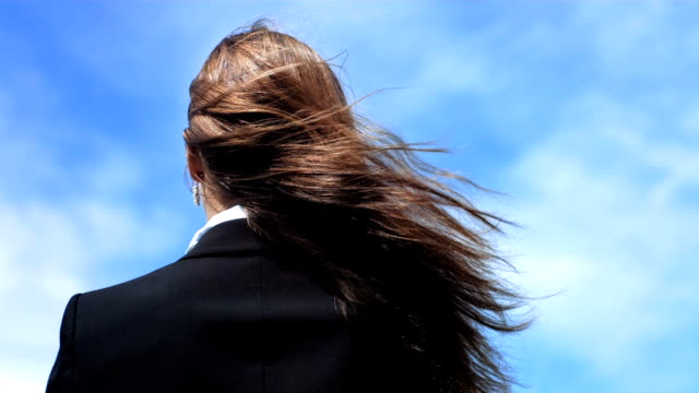 HD Super Slow-Mo: Woman's Hair Blowing In The Wind video