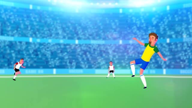 Super intro de futebol animados de futebol, promo, vídeo de acionador de partida! - vídeo