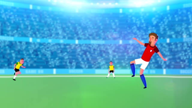 Super Soccer animated football intro, promo, starter video! video
