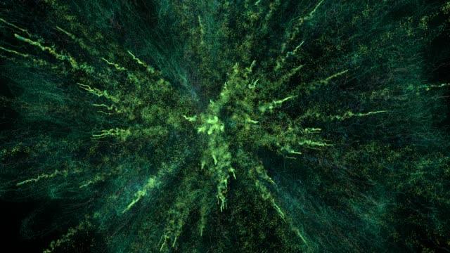 vídeos y material grabado en eventos de stock de explosión de partículas superdetailed / explosión de confeti / big bang. - molido