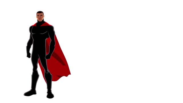 superhjälte svart på vit - superhjälte isolated bildbanksvideor och videomaterial från bakom kulisserna