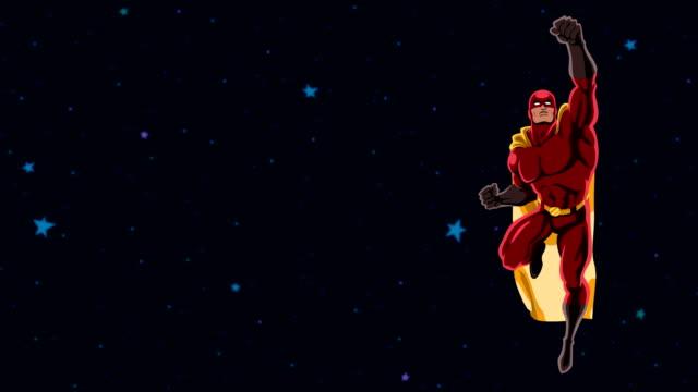 superhelden, fliegen 2 raum - held stock-videos und b-roll-filmmaterial