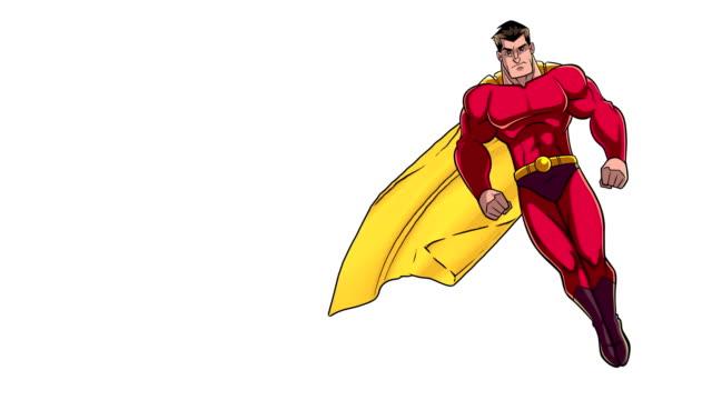 superhjälte flyger på vitt - superhjälte isolated bildbanksvideor och videomaterial från bakom kulisserna
