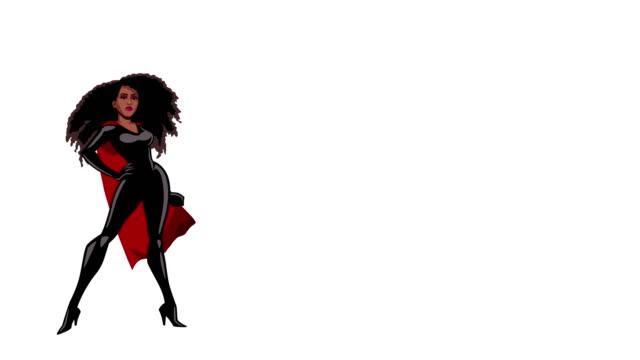 superhjältinna svart på vit - superhjälte isolated bildbanksvideor och videomaterial från bakom kulisserna