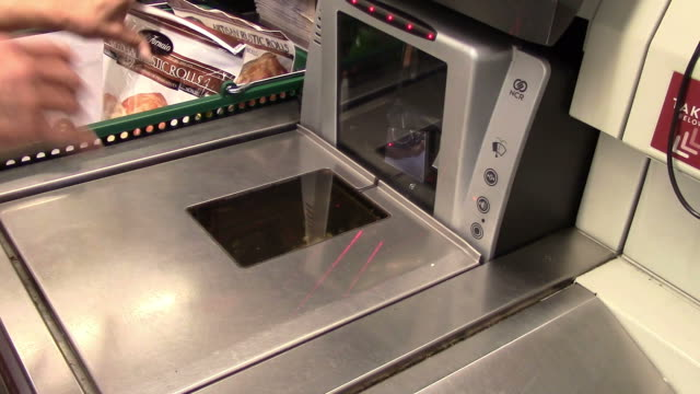 Supermarket checkout video