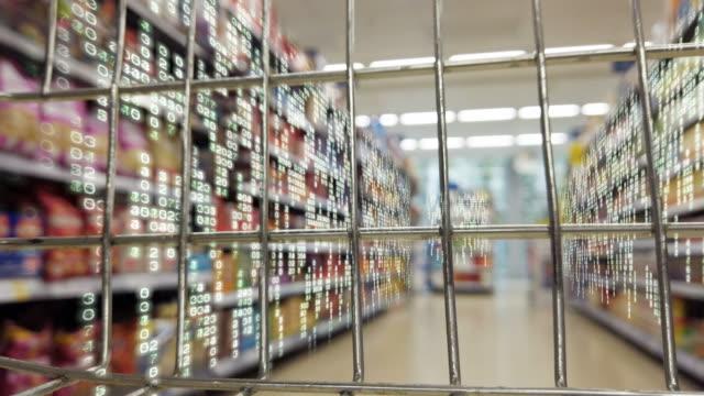 Supermarket data matrix. - vídeo