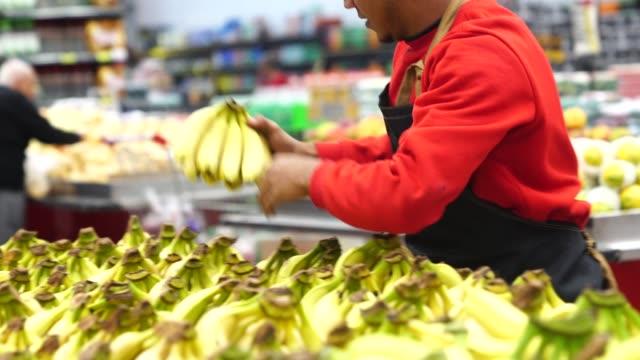Supermarket Employee Working