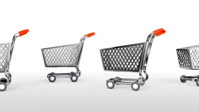 vídeos y material grabado en eventos de stock de supermercado carrito. 3 animación 3d - gran inauguración