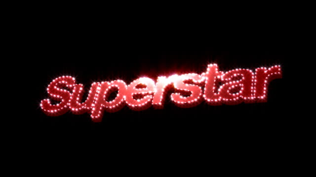 Superstar Glitz Text video