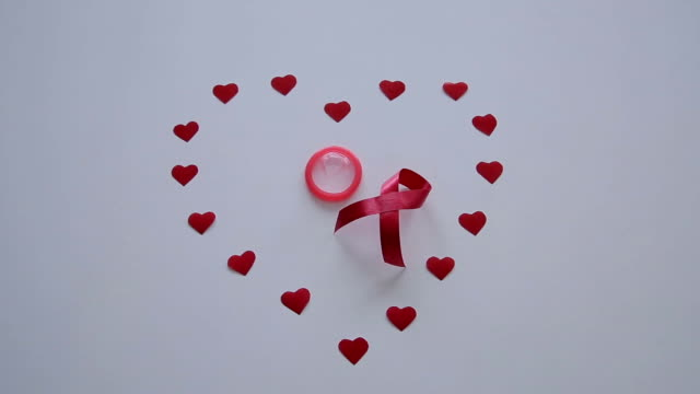 support for AIDS patients,red ribbon video
