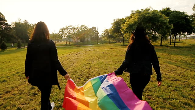 Support gay population,rainbow flag Support gay population,rainbow flag lgbtqi rights stock videos & royalty-free footage