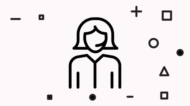 Support. Girl in headphones with microphone icon animation with alpha Support. Girl in headphones with microphone icon animation with alpha bluetooth stock videos & royalty-free footage