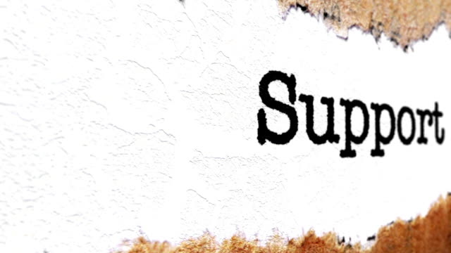 Support text on torn paper video
