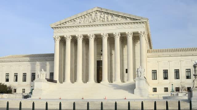 U.S. Supreme Court Building - Exterior columns and West Pediment - Washington, D.C