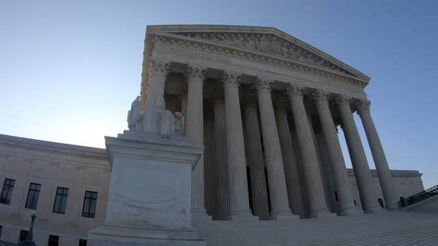 US Supreme Court Building US Supreme Court building in Washington, DC. b roll stock videos & royalty-free footage