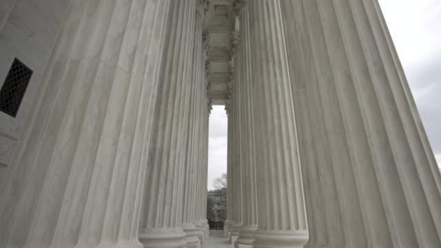 Supreme Court of the United States Columns Tilt Up in Washington, DC