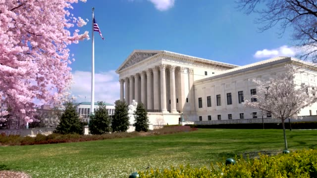 Supreme Court of the United States in Washington, DC United States Supreme Court in Springtime Washington DC supreme court stock videos & royalty-free footage