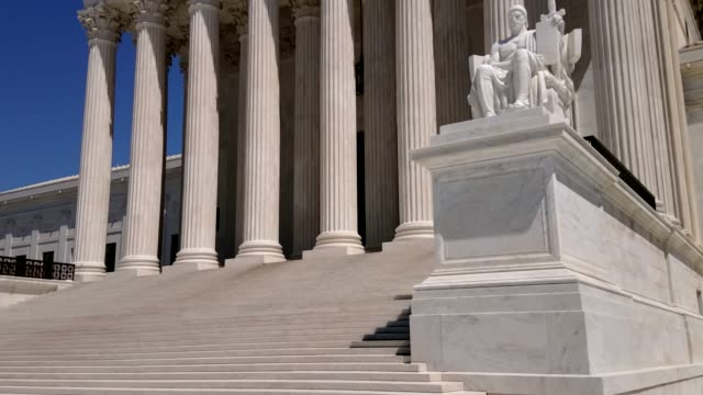 Supreme Court of the United States in Washington, DC United States Supreme Court - Washington DC - Tilt-Up supreme court stock videos & royalty-free footage