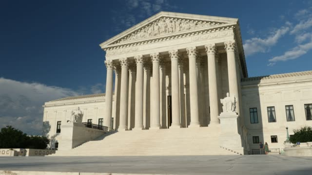 Supreme Court of the United States Washington DC USA Americas highest court of law the Supreme Court in Washington DC United States supreme court stock videos & royalty-free footage