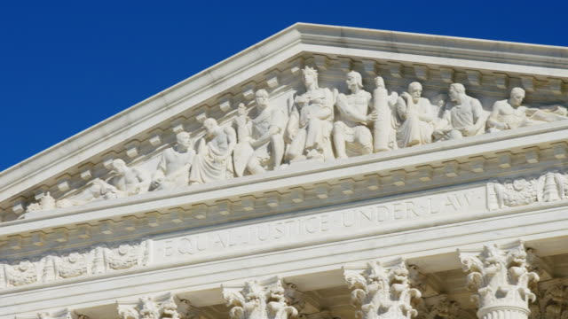 U.S. Supreme Court Pan U.S. Supreme Court Pan of Statues shot in 4K. supreme court stock videos & royalty-free footage
