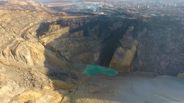 Surface mine, aerial view