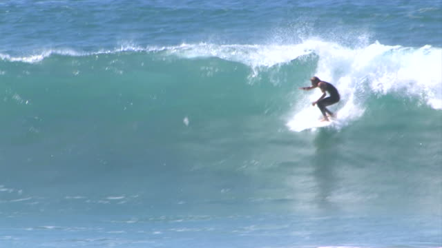 Surfer & Ocean Waves video
