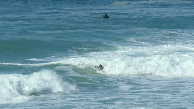 Surfer catch wave in pacific ocean