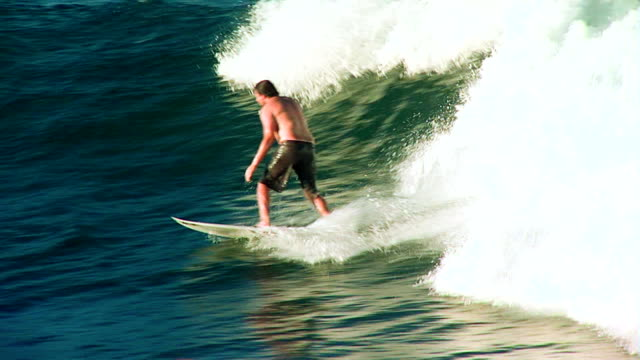Surfer on wave in Australia video