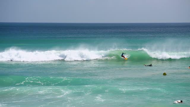 Surfers in Bali video