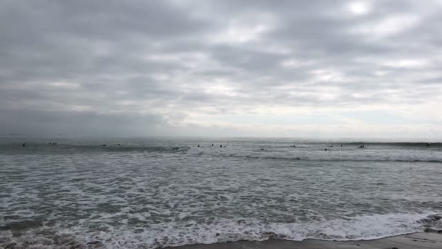 Surfers in California video