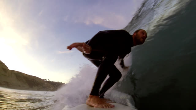 Surfing at Sunrise video