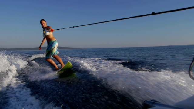 Surfing girl video