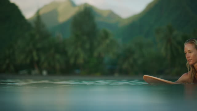 Surfing is her meditation video