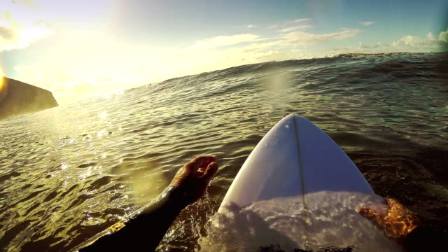 Surfing pov with action camera: on the longboard video
