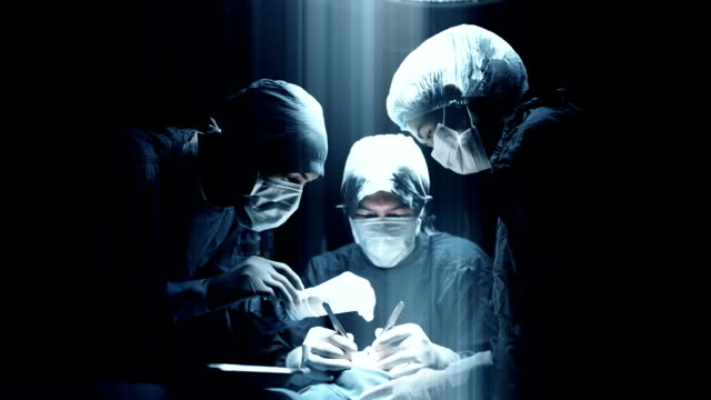 Surgeons team Making Surgery video