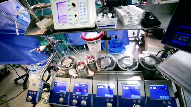 Surgery. Cardiopulmonary bypass machine video